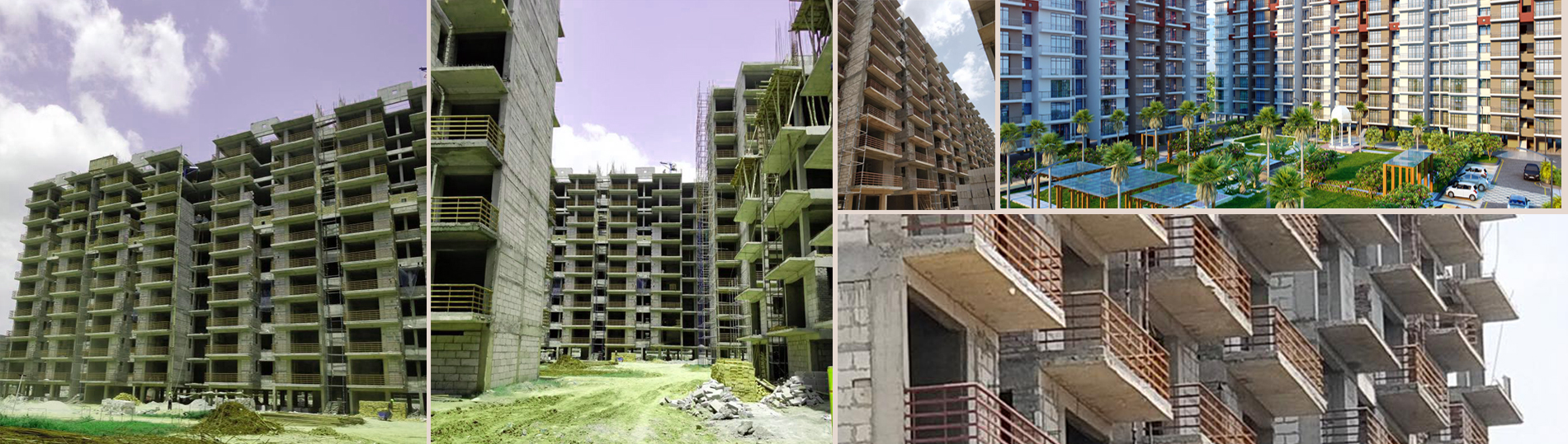 Global Heights Sohna Construction Image