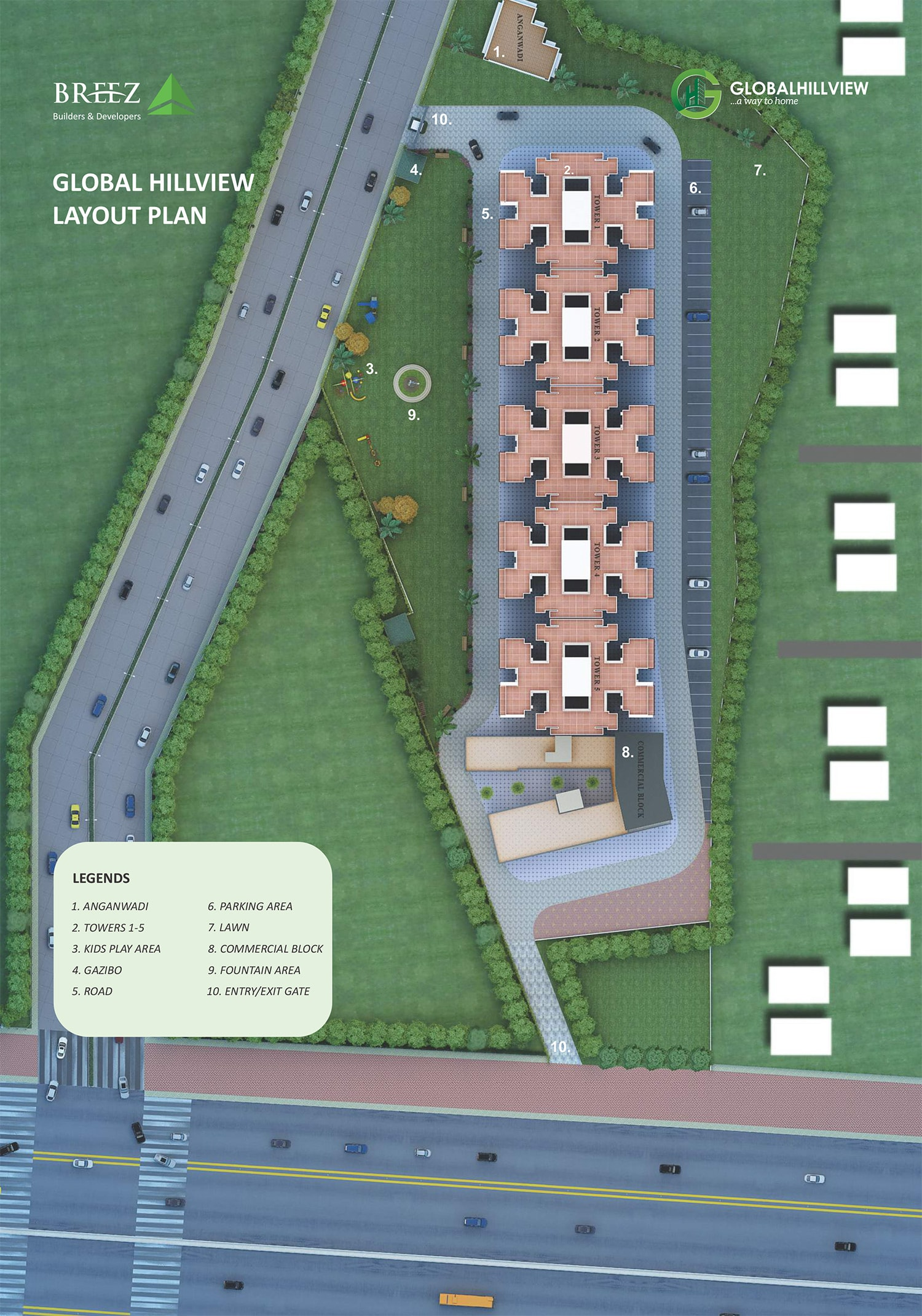 Global Hill View - Affordable Housing Layout Plan