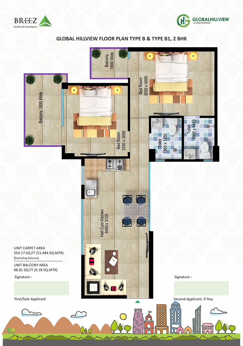 Hill View Floor Plans Option 2